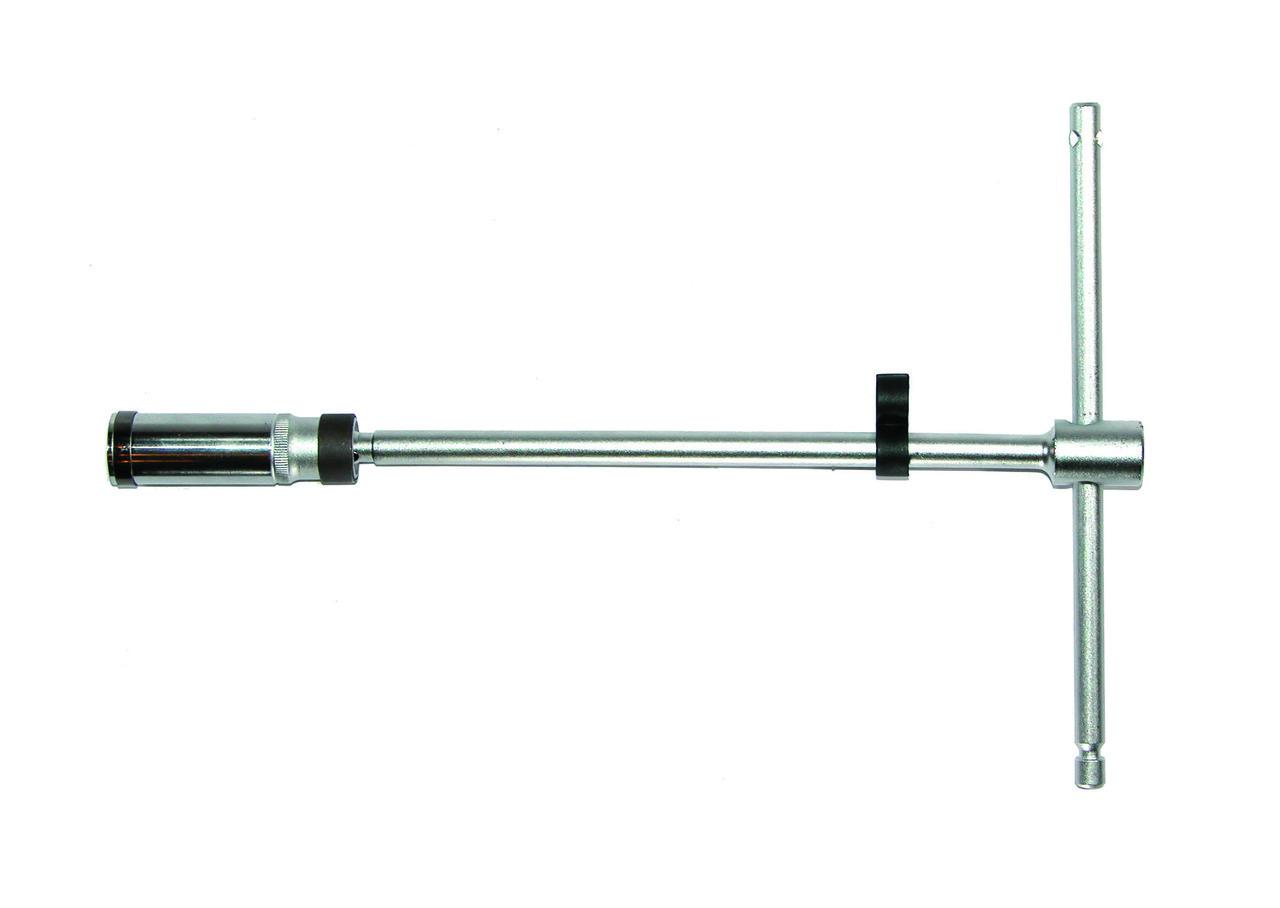 "Ключ свечной FORCE 807350016B 3/8"" Т-обр. с карданом 16 мм, L=500 мм (шарнир. фиксация)"