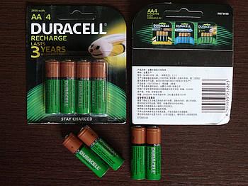 Аккумулятор DURACELL Recharge AA/(HR6) 2400mAh Ni-Mh 1.2v Пальчиковая батарейка в Блистере, 4ШТ
