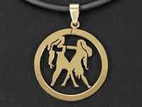 """Кулон """"Zodiacus Gold"""" R / 03. Близнецы 3x3 см"""
