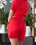 Жіночий літній костюм футболка принт Міккі і шорти розмір: 48-50, 52-54, фото 4