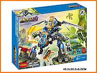 Конструктор Decool аналог LEGO Фабрика Героев: Боевая машина Суржа и Роки арт. 44028 (10589)