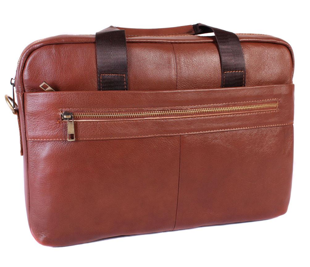 Мужская кожаная сумка 30107 коричневая