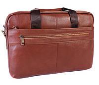 Мужская кожаная сумка 30107 коричневая, фото 1