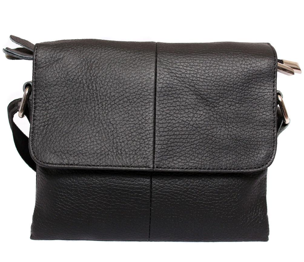 Чоловіча шкіряна сумка 300131 чорна