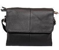 Чоловіча шкіряна сумка 300131 чорна, фото 1
