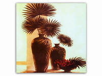 Два вазона Сухоцветы / Картина 15x15x1 см