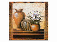 Три вазона Букет / Картина 15x15x1 см