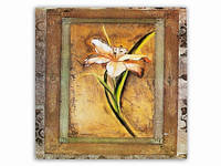 Цветок Ирис / Картина 15x15x1 см