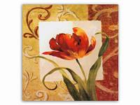 Цветок Мак / Картина 15x15x1 см