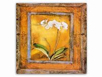 Цветок  Орхидея / Картина 15x15x1 см