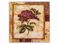 Цветок Роза темная / Картина 15x15x1 см