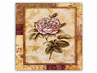 Цветок Роза светлая / Картина 15x15x1 см