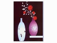 Цветы Графика / Картина 24x18x1 см