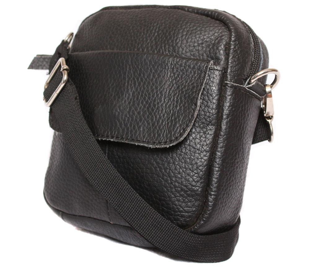 Чоловіча шкіряна сумка 300157 чорна