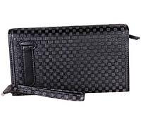 Мужской клатч черного цвета из натуральной кожи ST Leather Серый, фото 1