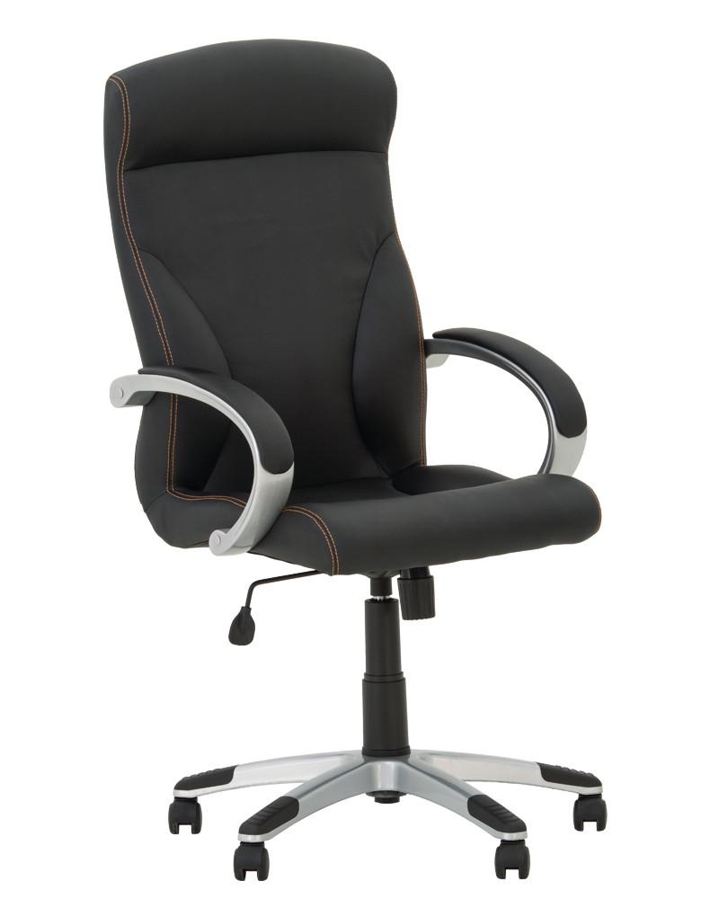 Крісло офісне Riga plastic механізм Tilt хрестовина PL35, екошкіра Eco-30 (Новий Стиль ТМ)