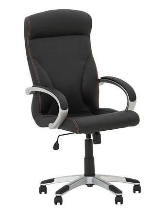 Крісло офісне Riga plastic механізм Tilt хрестовина PL35, екошкіра Eco-30 (Новий Стиль ТМ), фото 2