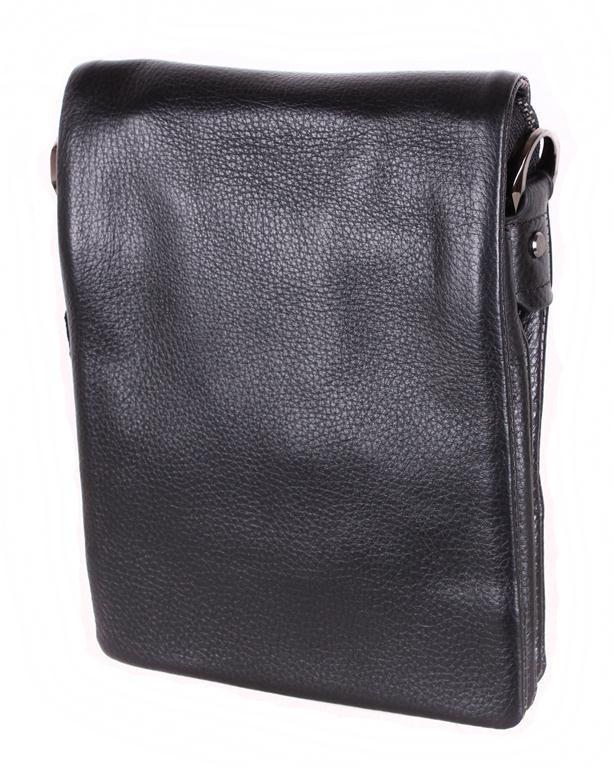 Мужская кожаная сумка 3001688 черная