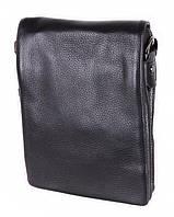 Мужская кожаная сумка 3001688 черная, фото 1
