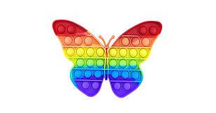 Игрушка Pop It Fidget Rainbow антистресс, пупырка. Пупырка РАДУЖНАЯ