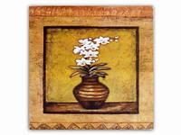 Цветок Белые Нарциссы Вазон / Картина 15x15x1 см