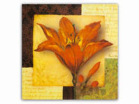 Картина Magnifique / 15х15 см / Цветок / Красная Лилия 15x15x1 см