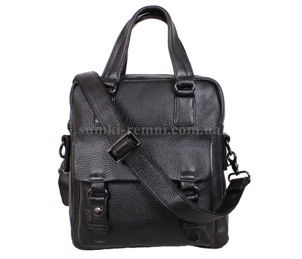 Чоловіча шкіряна сумка BBC98657-1 чорна