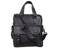 Чоловіча шкіряна сумка BBC98657-1 чорна, фото 1