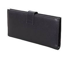 Очень стильный мужской кожаный клатч на много карт ST Черный