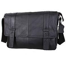 Сумка-портфель мужская кожаная Leather Collection черная