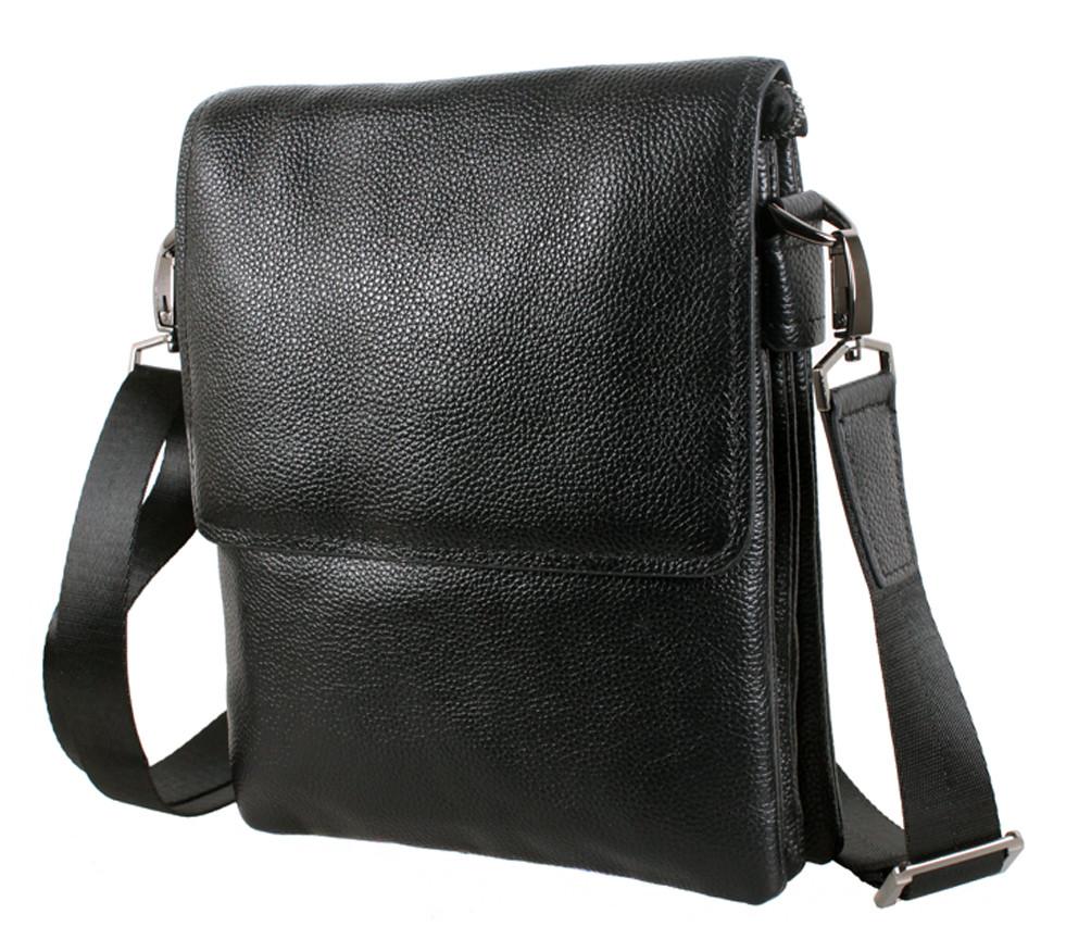 Мужская кожаная сумка 007-3 черная