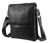 Мужская кожаная сумка 007-3 черная, фото 1