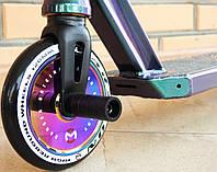 Самокат Трюковый Maraton Ranger UK 2021 120 HIC + пеги, для трюков, колеса литые алюминиевые 120 мм