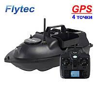 Кораблик для рыбалки FLYTEC с GPS V010 катер для завоза прикормки и снастей 2021