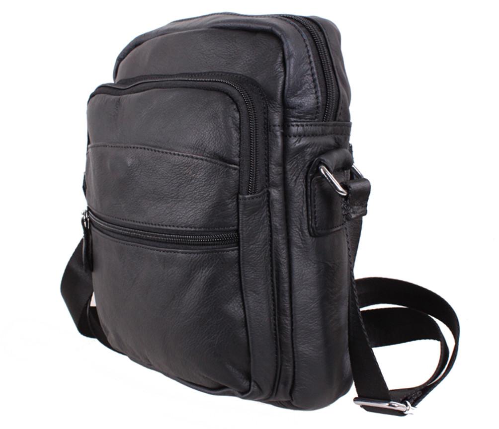 Мужская кожаная сумка MESS8137 черная