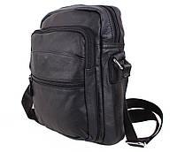 Мужская кожаная сумка MESS8137 черная, фото 1
