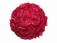 Подвеска декоративная / Шар из роз / Красный 20x20x20 см