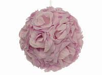 Подвеска декоративная / Шар из роз / Сиреневый 20x20x20 см