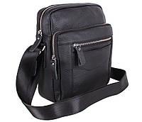 Мужская кожаная сумка 20166 черная, фото 1