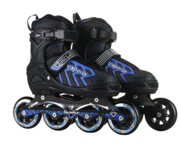 Ролики скоростные раздвижные SUXFLY (39-42р) 6005L черно синие