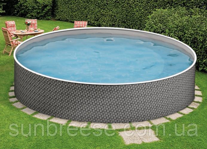 Каркасный бассейн AZURO RATTAN 3,6х1,2м с картриджными навесным скиммер 2000