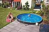 Каркасний басейн AZURO RATTAN 3,6х1,2м з картриджним навісним скіммером 2000, фото 2