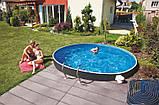 Каркасный бассейн AZURO RATTAN 3,6х1,2м с картриджными навесным скиммер 2000, фото 2