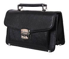 Черная барсетка из натуральной гладкой кожи ST Leather Черная