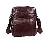 Чоловіча шкіряна сумка  LA3225-4RCF коричнева, фото 1