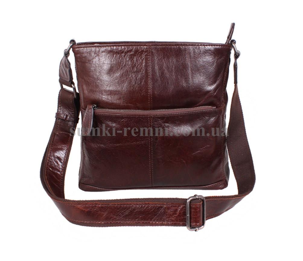 Чоловіча шкіряна сумка  LA9017-4RCF коричнева