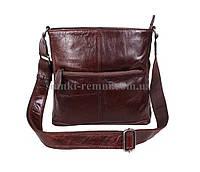 Чоловіча шкіряна сумка  LA9017-4RCF коричнева, фото 1