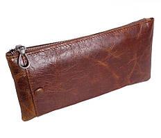 Мужской кожаный коричневый клатч ST Коричневый