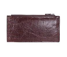 Мужской кожаный клатч под много карт из натуральной кожи ST Коричневый
