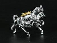 Статуэтка Металл / Стальная / Драгоценный Конь / Буддийский символ / 09 см 9x8x3 см